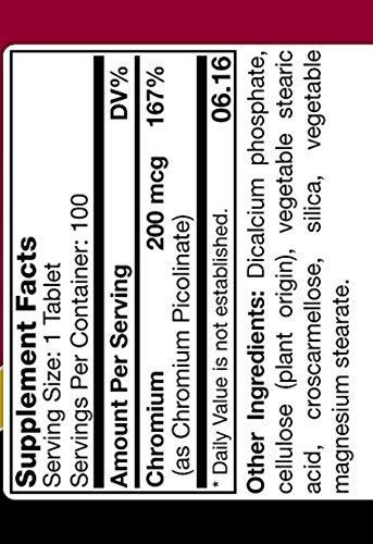 TNVitamins Chromium Picolinate 200 Mg 100 Capsules by TNVitamins (Image #2)
