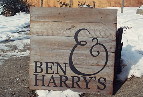 Barn Wood Rustic Custom Sign by Rubbish Love Shoppe