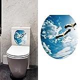 Hatop Toilet Seat Wall Sticker Decals Vinyl Art Wallpaper Removable Decor (B)