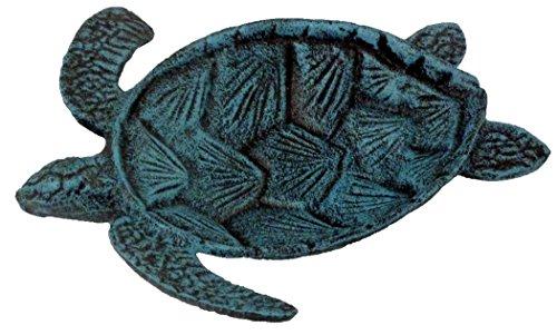 Chesapeake Bay Cast Iron Sea Turtle Decorative Bowl (Blue) by Chesapeake Bay