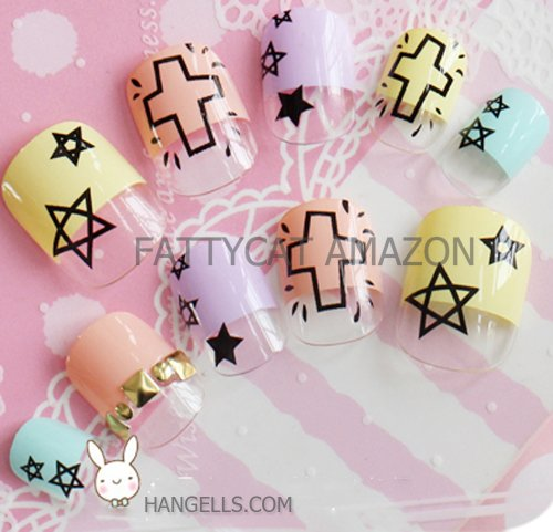 FASHION JAPANESE 3D NAIL ART_Sunshine_ 24 nails Sold By - Contact Shop Sun Number