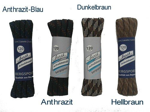 Barth bandl los cordones de montaña semicircular, 180cm, colores: marrón oscuro