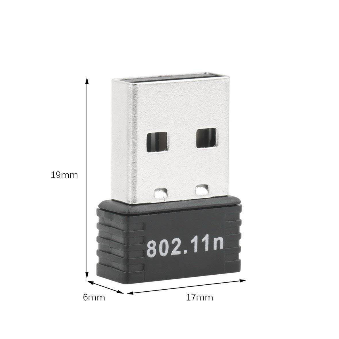 Tivolii WiFi Wireless Adapter 150Mbps 150M Mini USB WiFi Wireless Adapter Network LAN Card 802.11n/g/b STBC Support Extended Range