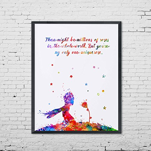 Amazon.com: The Little Prince Rose Quotes Poster Rose Wall ...