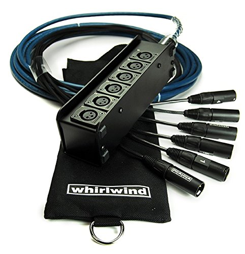 Whirlwind Audio Snake MINI 6 ELITE, low profile, 6 XLR inputs, no returns (15 Foot) by Whirlwind
