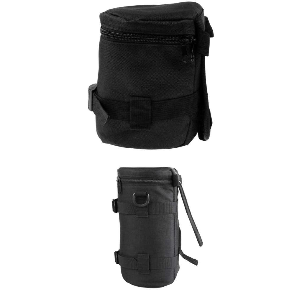 MonkeyJack 2Pack ShockproofCamera Lens Bag belt Protector Pouch Case for Universal Filter