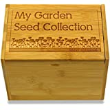 Cookbook People Garden Love Personalized Seed Box for Seed Storage