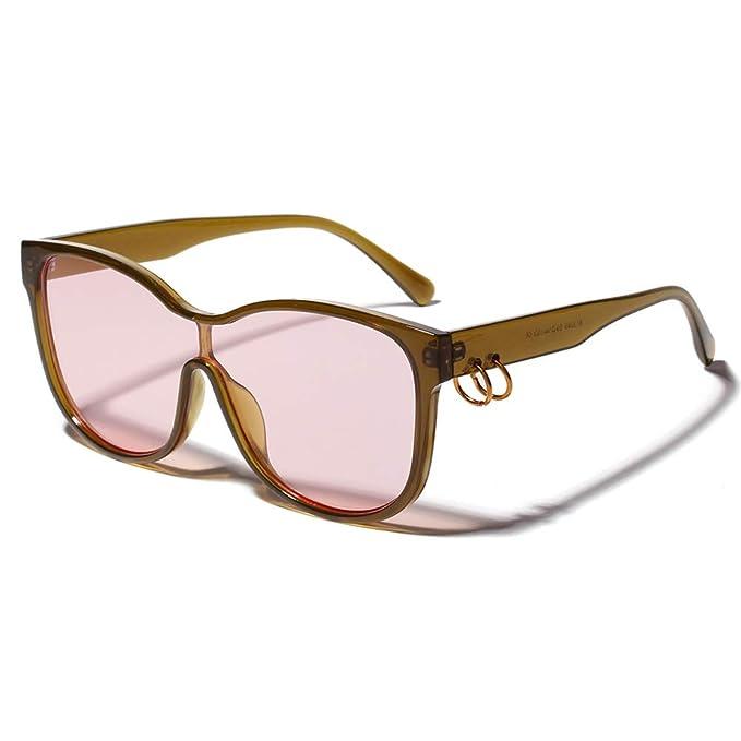 Amazon.com: Gafas de sol cuadradas para hombre, lentes de ...