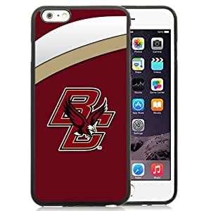 New Fashion Custom Designed Cover Case For iPhone 6 Plus 5.5 Inch Phone Case With NCAA Atlantic Coast Conference ACC Footballl Boston College Eagles 3 Protective Cell Phone TPU Cover Case for Iphone 6 Plus Generation 5.5 Inch Black