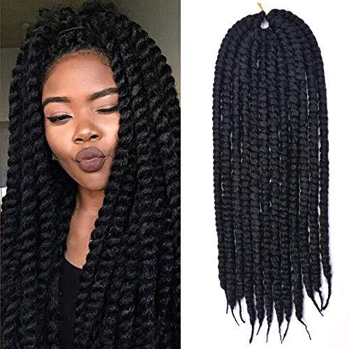 Leyoo 12 Senegalese Twist Crochet Hair 120 Roots Box Thin