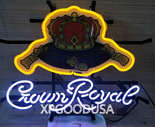 """Imperial Sign Neon (XPGOODUSA Beer Neon Sign- Imperial Crown 17""""×14"""" for Home Bedroom Garage Decor Wall Light, Striking Neon Sign for Bar Pub Hotel Man Cave Recreational Game Room)"""