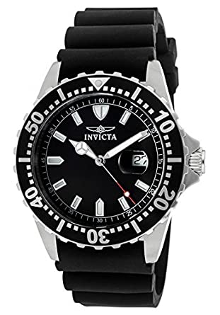 Amazon.com: Invicta Mens 10917 Pro Diver Black Dial Black Polyurethane Watch: Invicta: Watches