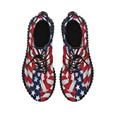 D-Story American Flag Grus Mens Boost Shoes Boost Sneakers Energy Bounce Breatheable Woven Running Mens Shoes