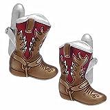 Red Western Boots Cufflinks