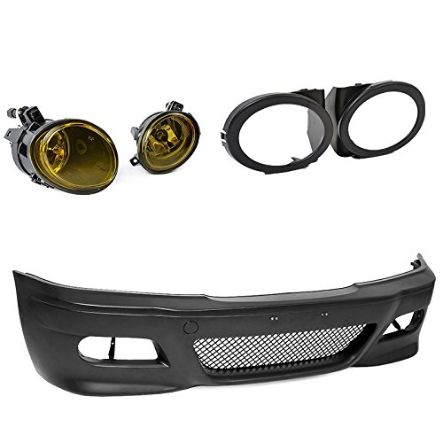 E46 M3 Conversion Bumper Style Fog Yellow Light Cover 3-Series 2DR coupe 99-05 Advan-Emotion