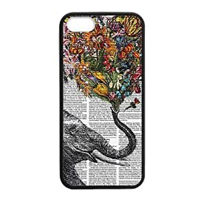 DIY Design Cute Vintage Newspaper Elephant Aztec Floral Trunk-Protective TPU Cover Case for iphone 6 // (Laser Technology)case Perfect as Christmas gift02