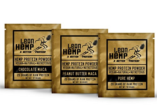 Flavored-Hemp-Protein-Powder-by-Lean-Hemp-Organic-Vegan-Hi-Fiber-50-Protein-Pure-Chocolate-Maca-Peanut-Butter-Maca-60-Grams-of-Protein