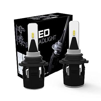 ANFTOP - Bombillas LED para faros delanteros de coche, tamaño pequeño, 48 W,