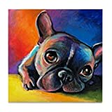CafePress - French Bulldog 5 - Tile Coaster, Drink Coaster, Small Trivet