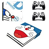 Doraemon ps4 pro edition skin decal for console and 2 controllers