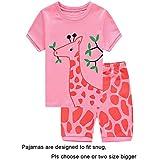 Baby Girls Short Sleeve Pajamas Sets 100% Cotton Pyjamas Toddler Infant Kids Pjs Size 18-24Months Pink