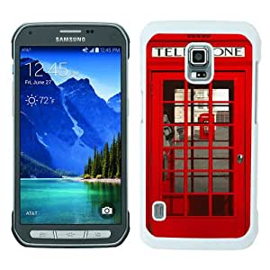 Fashionable Samsung Galaxy S5 Active Case ,Unique Designed With Classic British Red Telephone Box white Samsung Galaxy S5 Active Cover High Quality Phone Case