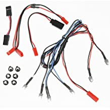 Bastens RC Car & Truck 6 LED body lights kit set with Snap-In Holder Rings 2 White Headlight / 2 Red Tail Lights / 2 Blue Fog or Parking Accessory Lights fits most 1/10 1/16 1/18 scale such as Traxxas Axial Losi RedCat