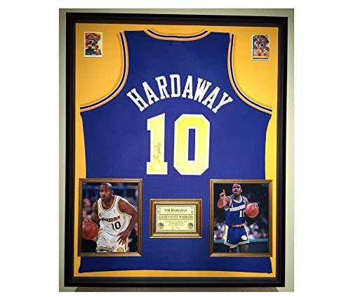 2b481f516b4 Premium Framed Tim Hardaway Autographed/Signed Golden State Warriors Jersey  - JSA COA