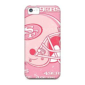 MarcClements Apple Iphone 5c Scratch Resistant Hard Phone Case Customized Lifelike San Francisco 49ers Image [SSV3043ciHE]