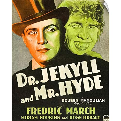 CANVAS ON DEMAND Wall Peel Wall Art Print Entitled Dr. Jekyll and Mr. Hyde - Vintage Movie Poster 29