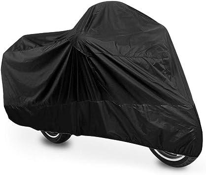 Telo coprimoto M-Bike Nero impermeabile universale 210 x 120 cm Resistente ad acqua polvere pioggia e vento per moto motorino scooter bicicletta bici motocicletta copertura copri