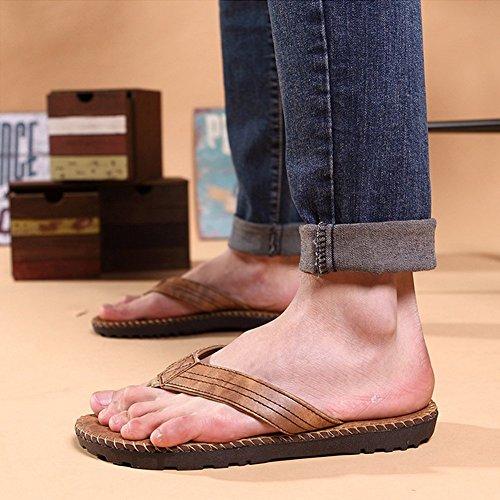 Ciabatte Infradito Da Spiaggia Estate Uomo Bininbox Morbide Pantofole Sandali Antiscivolo Color Kaki