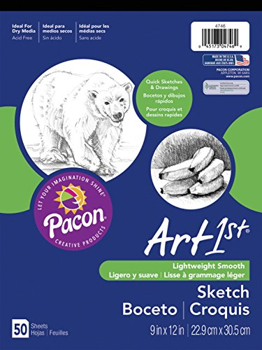 "Art1st Sketch Pad, 18""X12"", White, 50 Sheets"