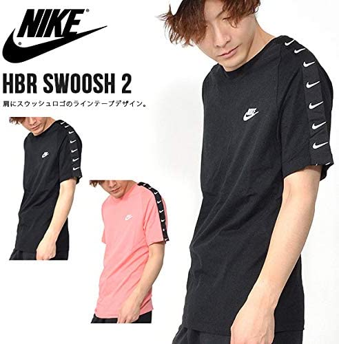 Nike As M NSW Tee Hbr Swoosh 2 T Shirt Homme, RoseBlanc