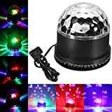 ALED LIGHT RGB Sound Actived Rotating Magic Ball Stage Lights for KTV Xmas Party Wedding Show Club Pub Disco DJ