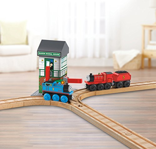 Fisher-Price Thomas & Friends Wooden Railway, Maron Lights and Sounds Signal Shed - Battery Operated