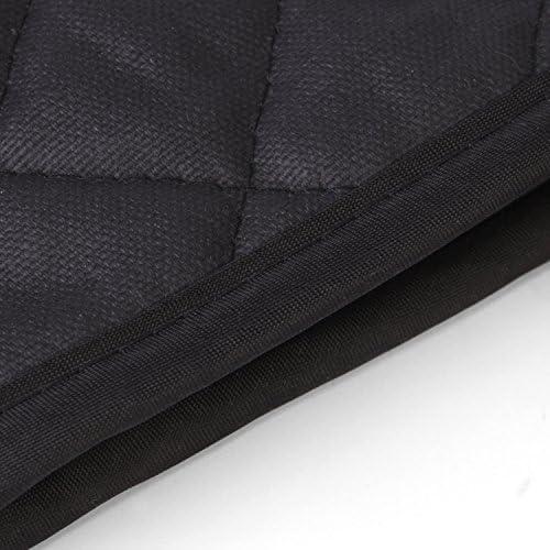 Rustler RS-0913 BBQ Grillhandschuhe, hitzebeständig und griffig, Backofen und Kamin, schwarz