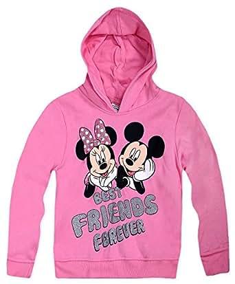 Sudadera con capucha de Minnie Mouse oficial de Disney para niñas rosa rosa 8 años: Amazon.es: Ropa y accesorios