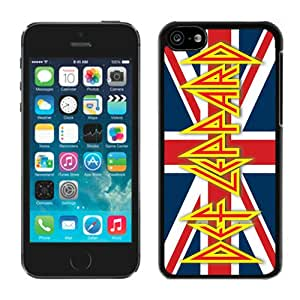 For iPhone 5C,100% Brand New Def Leppard Black For iPhone 5C Case