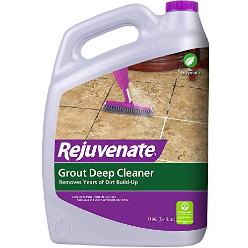 Rejuvenate Grout Deep Cleaner Safe Non-Toxic Cleaning Formula Instantly Removes Years of Dirt Build-Up to Restore Grout to The Original Color (1 Gallon)