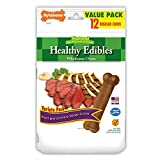 Nylabone Healthy Edibles Natural Dog Chews, Roast Beef And Chicken Dog Treats, Small, 12 Count