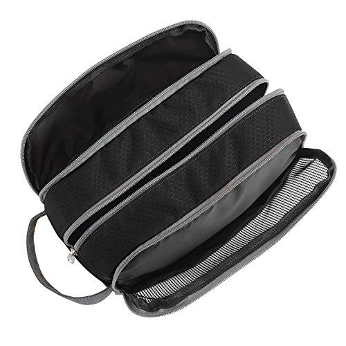 Travel Toiletry Bag Nylon, Gonex Dopp Kit Shaving Bag Toiletry Organizer Black