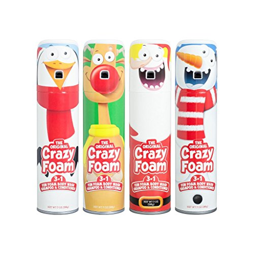 Crazy Foam Holiday 4 Pack: Santa, Reindeer, Snowman, Penguin