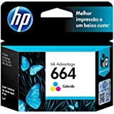 Cartucho De Tinta Hp 664 Tricolor 2,0 Ml Ink Advantage F6v28ab Hp Suprimentos
