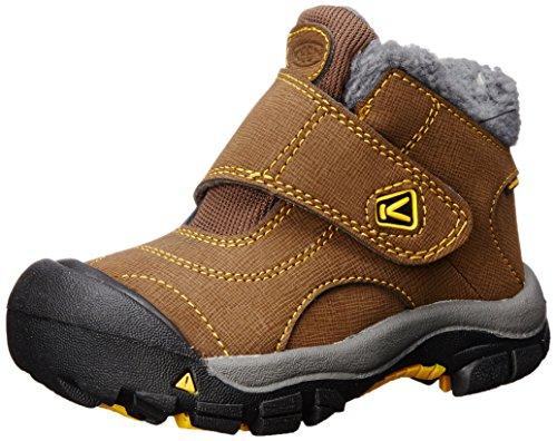 (KEEN Kootenay Waterproof Winter Boot (Toddler/Little Kid), Dark Earth/Spectra Yellow, 13 M US Little Kid)