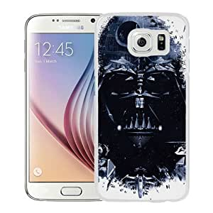 NEW Unique Custom Designed Samsung Galaxy S6 Phone Case With Star Wars Darth Vader Spaceships_White Phone Case