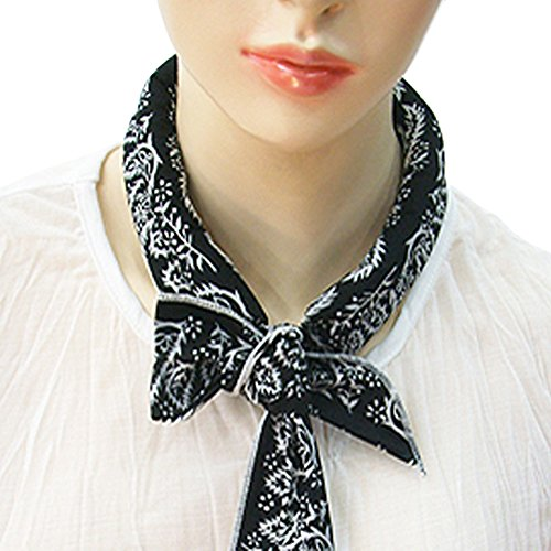 Fashion Cooling Ice Scarf Neck Wrap Bandanna Ice Scarf by The Eliixr, Black