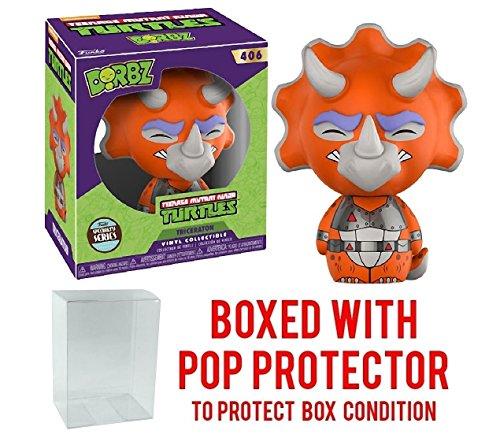 Funko Dorbz Teenage Mutant Ninja Turtles: TMNT - Triceraton Specialty Series Exclusive Vinyl Figure (Bundled with Pop BOX PROTECTOR CASE) ()