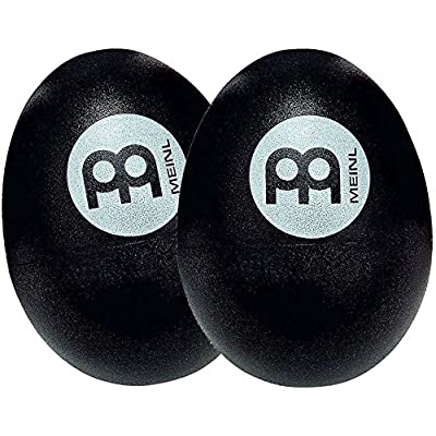 Meinl Percussion ES2-BK Set of Two Plastic Egg Shakers, Black: Musical Instruments