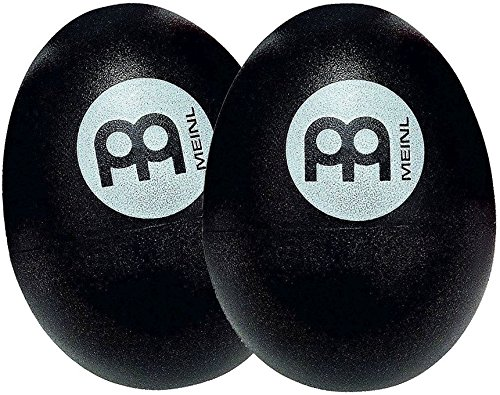 Meinl Percussion ES2-BK Set of Two Plastic Egg Shakers, Blac